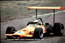 McLaren M7A Denny Hulme. Action photo 1969 Brands Hatch Race of Champions. 10x7""